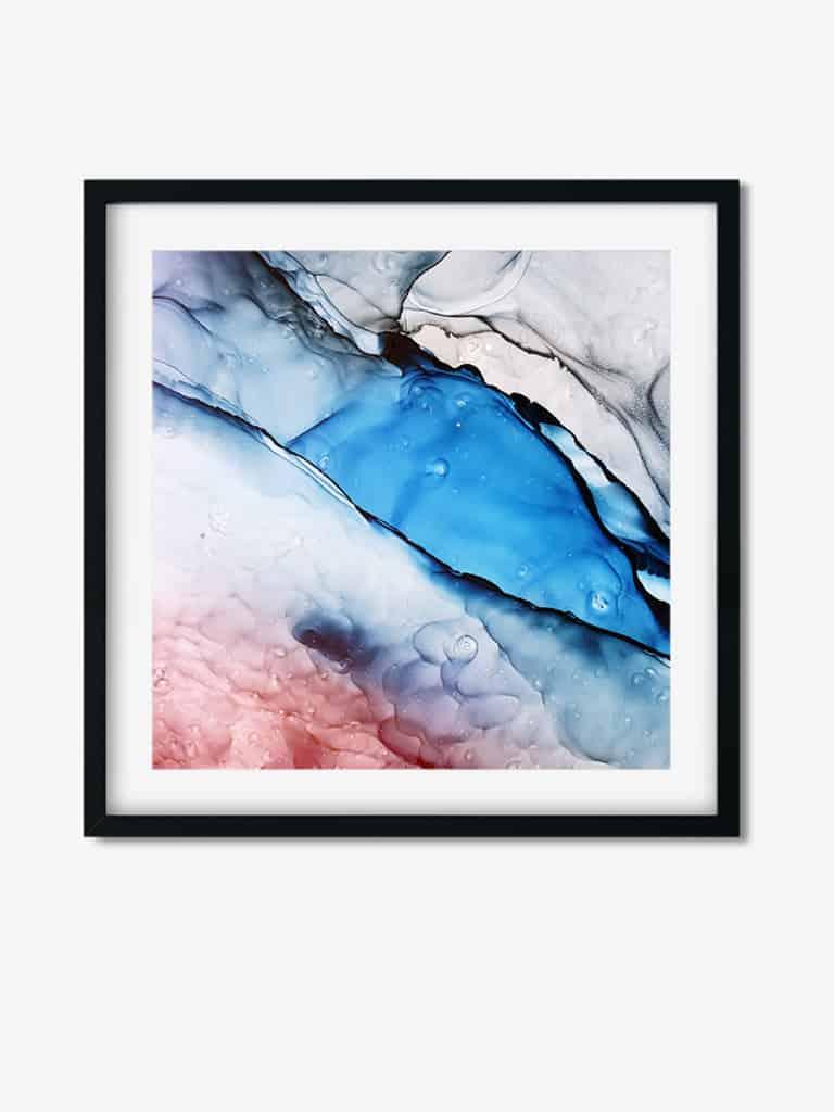 Tablou Abstract Art Watercolor Waves