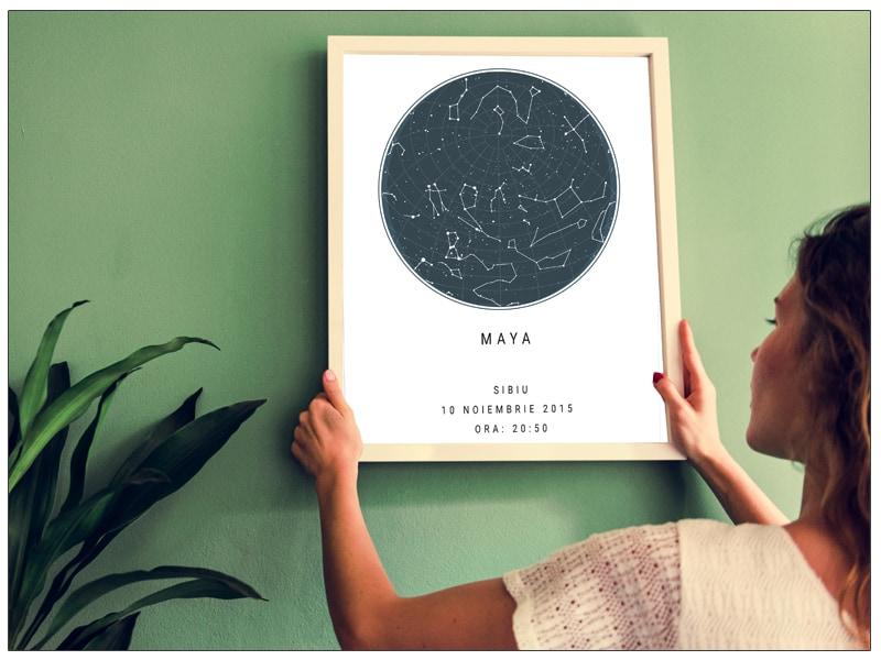 Tablou Tablou personalizat harta stelelor, harta ceruluipersonalizat harta stelelor