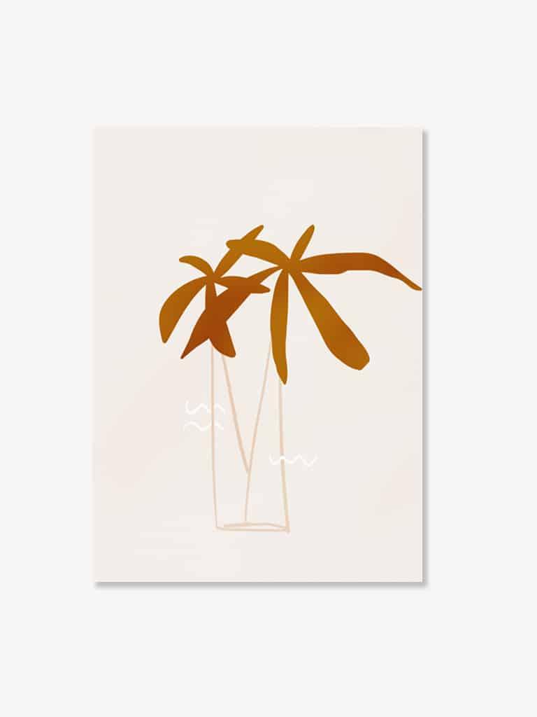 Tablou modern art peisaj pentru camera copiilor palmieri