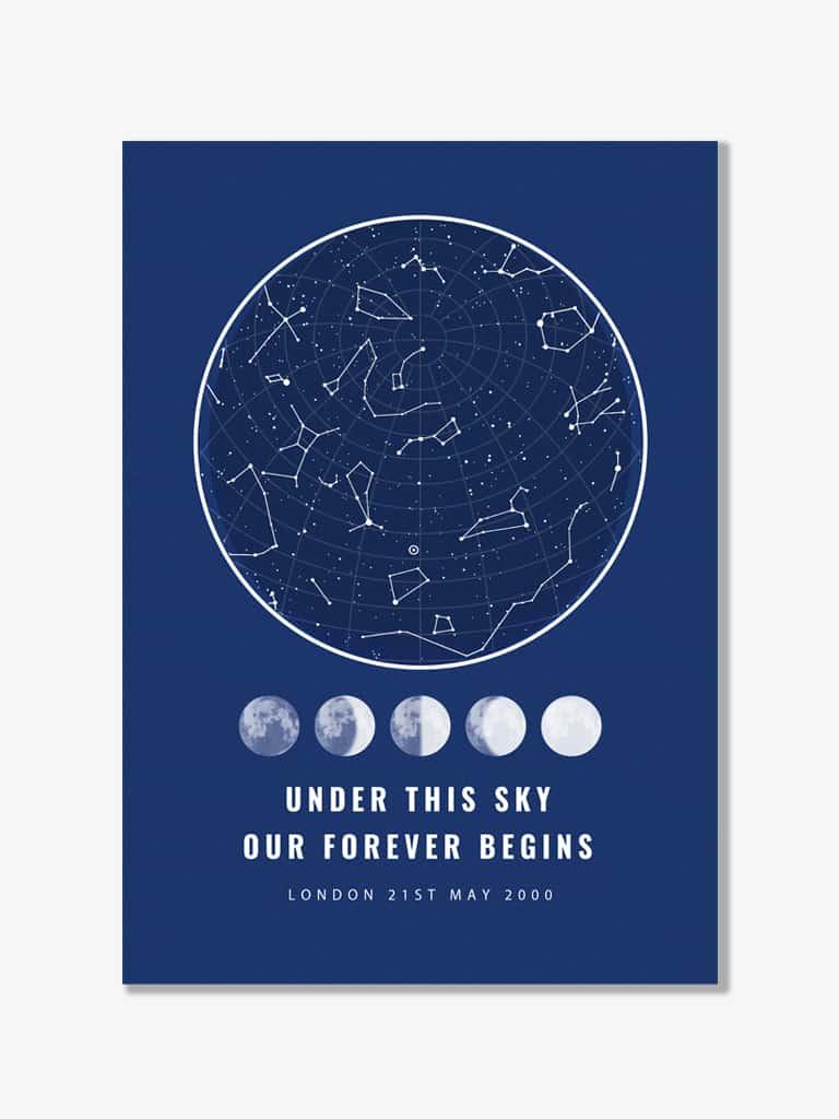 Tablou personalizat harta stelelor