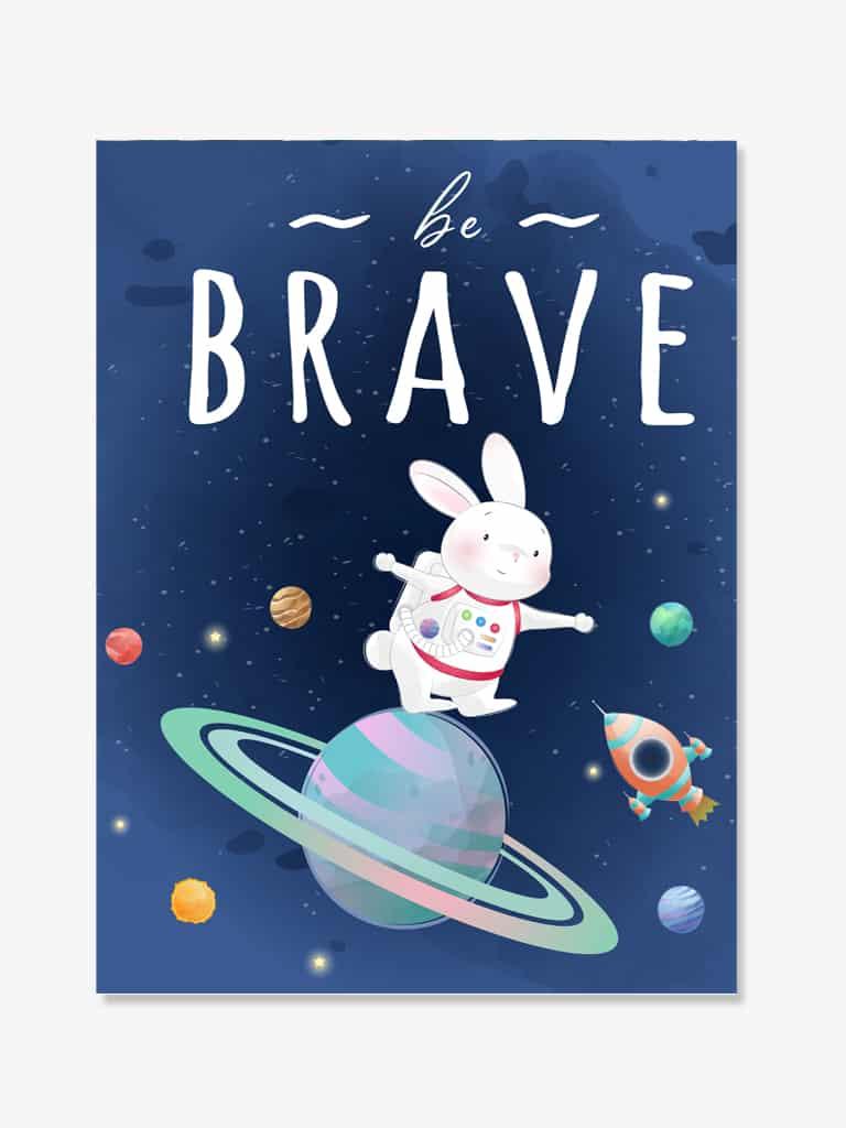 Tablou copii mesaj cosmos astronaut