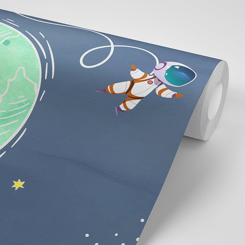 Foto Tapet Camera Copiilor Cosmos, Planete, Astronaut, Cosmonaut