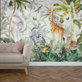 Tapet camera copiilor jungla