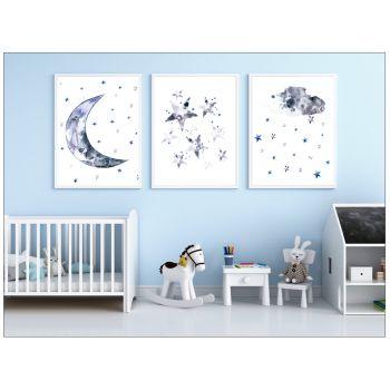Tablouri cu luna si stele pentru copii