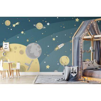 Foto Tapet Camera Copiilor Sistemul Solar