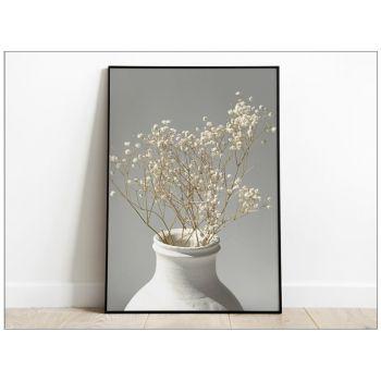 Tablou Art Print cu flori albe Gypsophila
