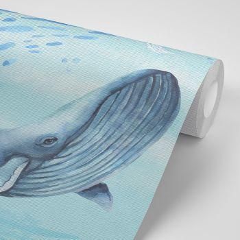 Foto Tapet Camera Copiilor Balene si viata marina