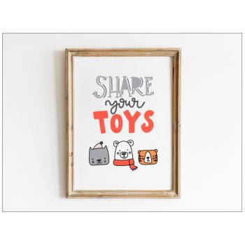 Tablou cu mesaje emotionate camera copilului - Share your toys