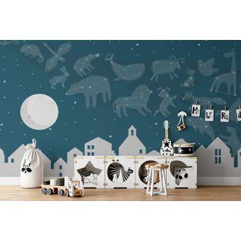 Foto Tapet Camera Copiilor Stele Luna