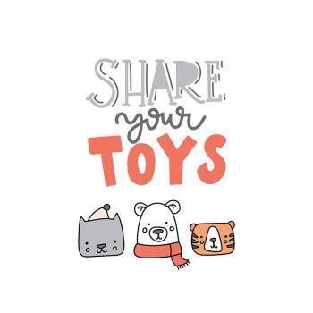 Tablou cu mesaje emotionate camera copilului Share your toys