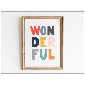Tablou cu mesaje emotionate camera copilului - Wonderful