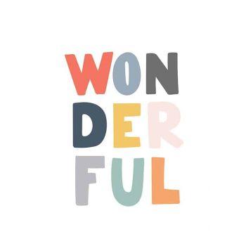 Tablou cu mesaje emotionate camera copilului Wonderful