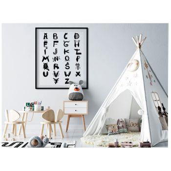 Tablou decor cu Alfabetul cu monstruleti