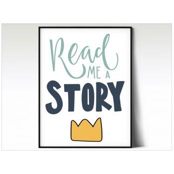 Tablou cu mesaje emotionate camera copilului - Read a Story