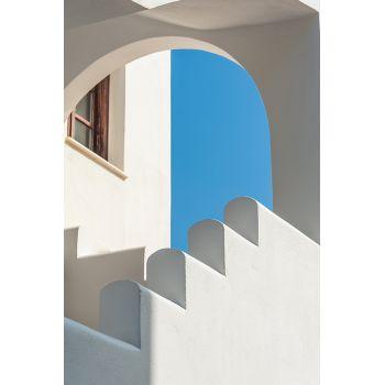 Tablou peisaj urban Santorini Grecia