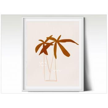 Tablou modern art peisaj pentru camera copilului cu palmieri