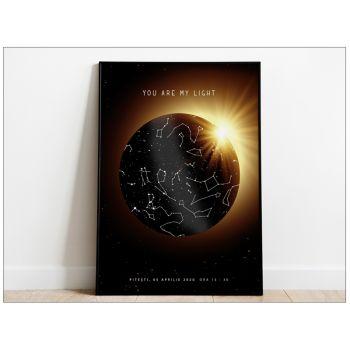 Tablou personalizat cu harta stelelor Eclipsa