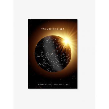 Tablou personalizat cu harta stelelor Eclipsa, harta cerului