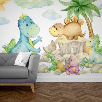 Foto Tapet Camera Copiilor cu baby dinozauri