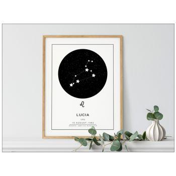 Harta stelelor cerului semn zodiacal