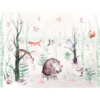 Foto Tapet Camera Copiilor Animale din padure