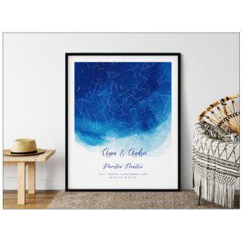Tablou personalizat cu harta stelelor Sky