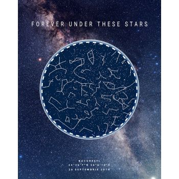 Tablou personalizat cu harta stelelor Galaxy