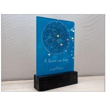 Harta stelara sticla acrilica