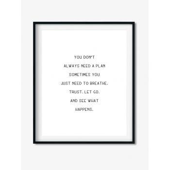Tablou Art Text cu mesaj inspirational
