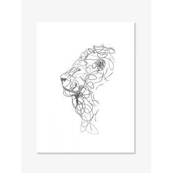Tablou Line Art Lion