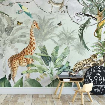 Tapet Camera Copiilor Animale din jungla