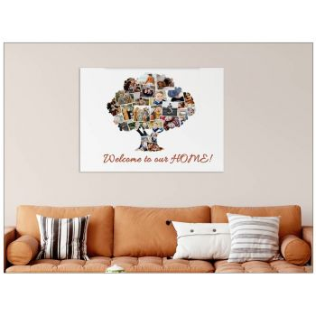 Tablou colaj personalizat cu fotografiile tale copac
