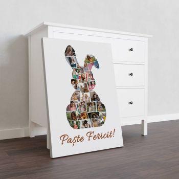 Tablou colaj personalizat cu fotografiile tale de paste Easter Bunny