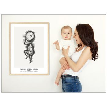 Baby Birth Poster - Tablou personalizat bebelus la nastere