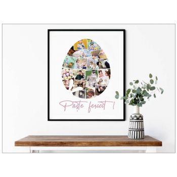 Tablou colaj personalizat cu fotografiile tale de paste Easter Egg
