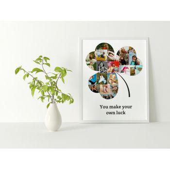 Tablou colaj personalizat cu fotografiile tale Trifoi
