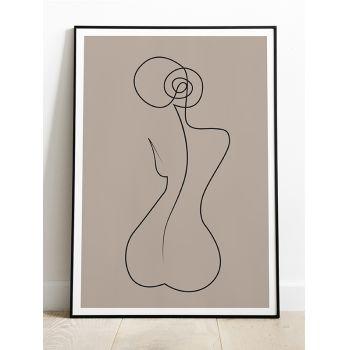 Tabloul decor Line Art Abstract Body