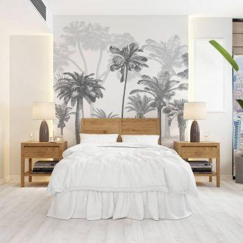 Tapet Tropical Forest Black & White
