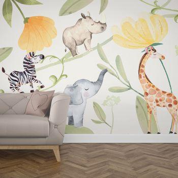 Foto Tapet Camera Copiilor safari animals