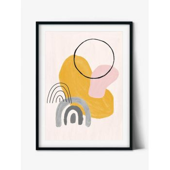 Tabloul Abstract Art Modern Watercolor Shapes