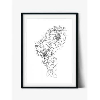 Tabloul Line Art Lion