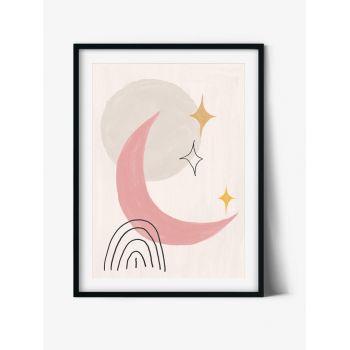 Tablou Abstract Art Geometric Moon